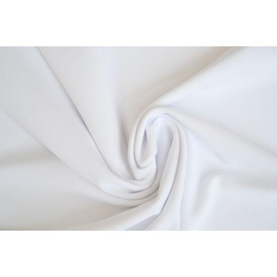 2117 Fehér mikroszálas (mikrofibra) fitneszruha anyag, 290 gr, fogás és színminta 30x30 cm