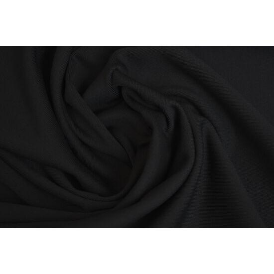 2117 Fekete mikroszálas (mikrofibra) fitneszruha anyag, 290 gr, fogás és színminta 30x30 cm