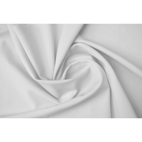 Fehér poliészter elasztán fürdőruha anyag, matt, 170 gr, fogás és színminta 30x30 cm