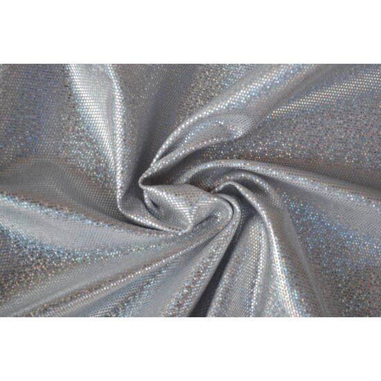 Ezüst hologrammos táncruha anyag