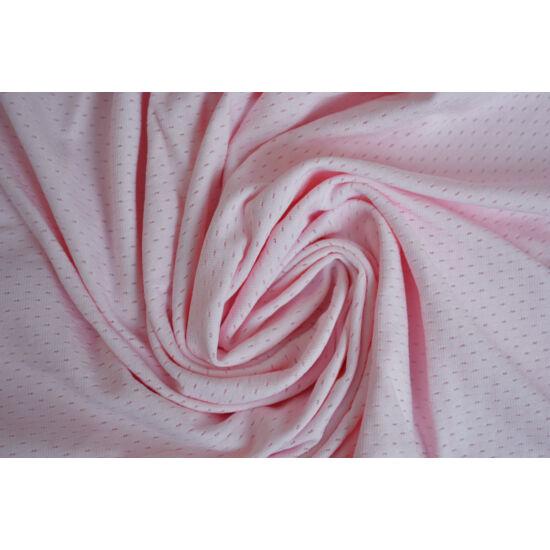 Light Rosa lyukacsos fitneszruha anyag, fogás és színminta 30x30 cm