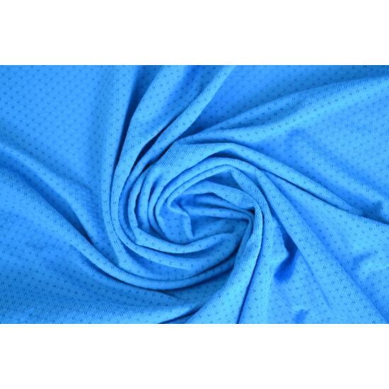 Ocean Blue lyukacsos fitneszruha anyag, fogás és színminta 30x30 cm