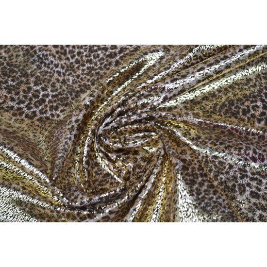 Ocelot arany laminált táncruha, fogás és színminta 30x30 cm