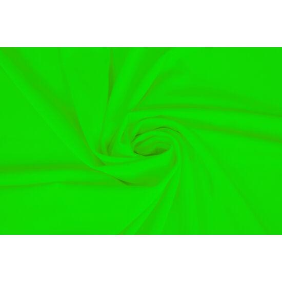 Verde fluo poliészter elasztán fürdőruha anyag, matt, 170 gr, fogás és színminta 30x30 cm
