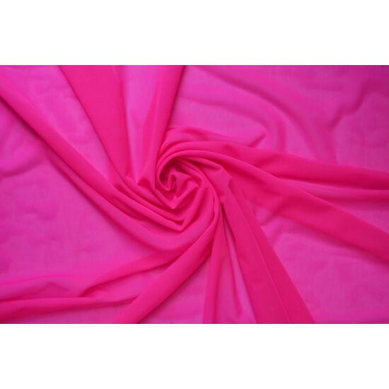 Pink poliamid elasztán necc anyag, fogás és színminta 30x30 cm