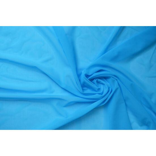 Cyan poliamid elasztán necc anyag, fogás és színminta 30x30 cm