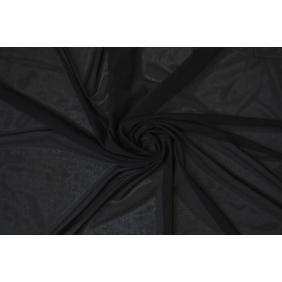 Fekete poliamid elasztán necc anyag