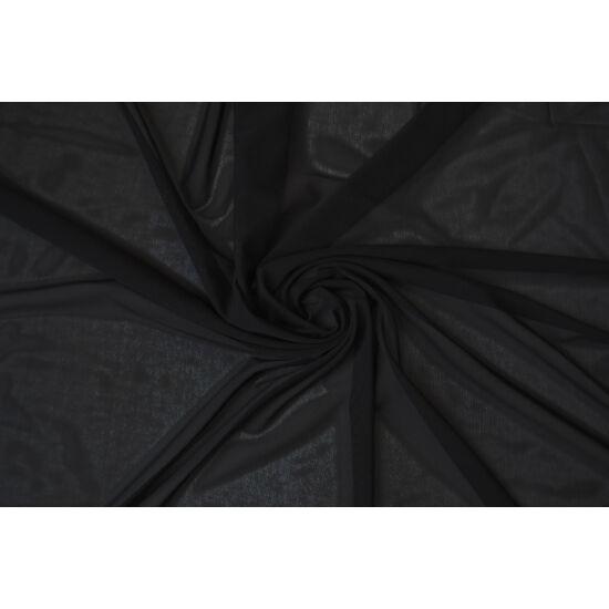Fekete poliamid elasztán necc anyag, fogás és színminta 30x30 cm
