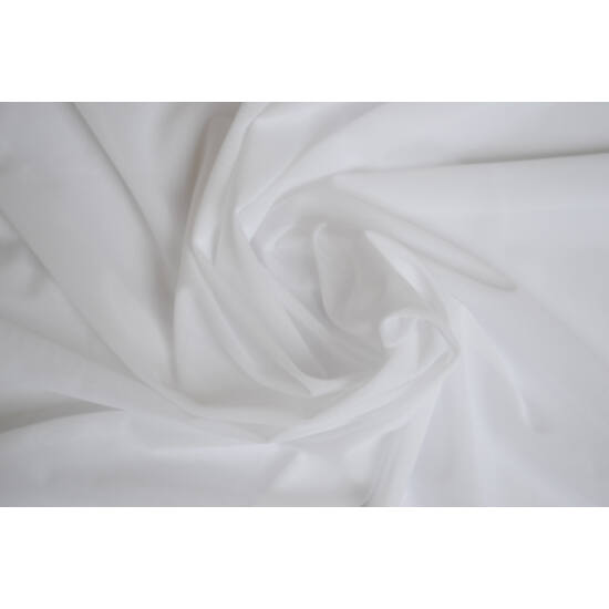 Fehér poliamid elasztán necc anyag, fogás és színminta 30x30 cm