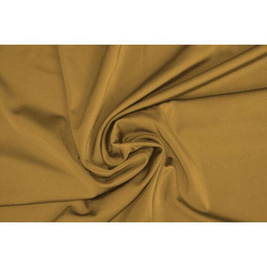 Arany poliamid elasztán fürdőruha anyag, fényes, 170 gr, fogás és színminta 30x30 cm