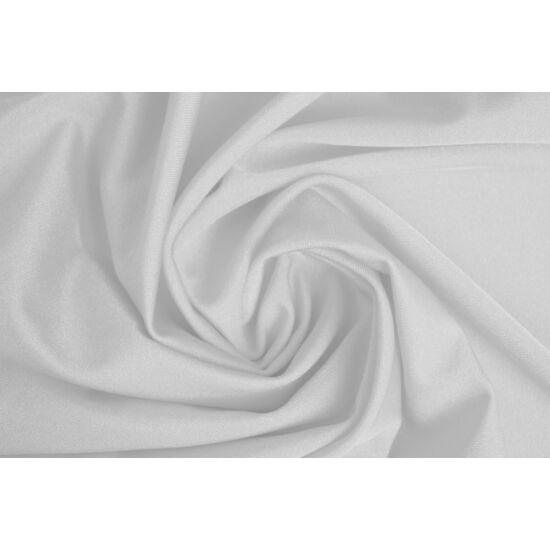 Fehér poliamid elasztán fürdőruha anyag, fényes, 170 gr