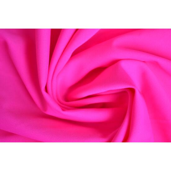 Pink poliamid elasztán fürdőruha anyag, fényes, 170 gr, fogás és színminta 30x30 cm