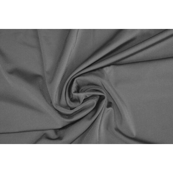 Ezüst poliamid elasztán fürdőruha anyag, fényes, 170 gr