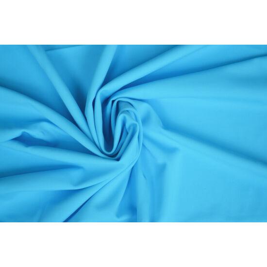 Cyan poliamid elasztán fürdőruha anyag, matt, 170 gr, fogás és színminta 30x30 cm