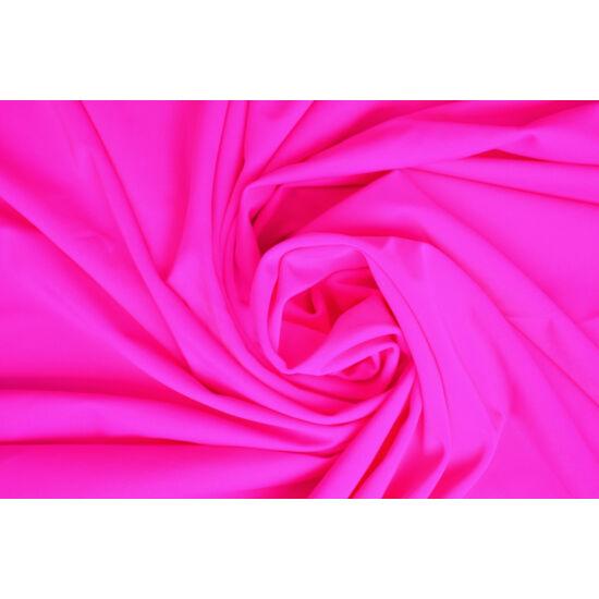 Pink poliamid elasztán fürdőruha anyag, matt, 170 gr, fogás és színminta 30x30 cm